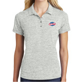 Ladies Silver Electric Heather Polo-Utility