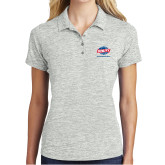 Ladies Silver Electric Heather Polo-Utility, Personalized