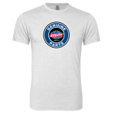 Next Level Heather White Tri Blend Crew-Genuine Parts