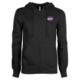 ENZA Ladies Black Fleece Full Zip Hoodie-Utility