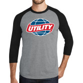Grey/Black Tri Blend Baseball Raglan-Utility