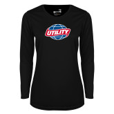 Ladies Syntrel Performance Black Longsleeve Shirt-Utility