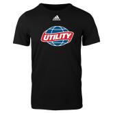 Adidas Black Logo T Shirt-Utility
