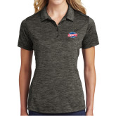 Ladies Charcoal Electric Heather Polo-Utility