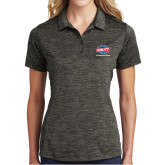 Ladies Charcoal Electric Heather Polo-Utility, Personalized