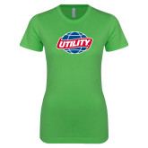 Next Level Ladies SoftStyle Junior Fitted Kelly Green Tee-Utility