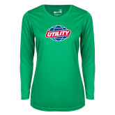 Ladies Syntrel Performance Kelly Green Longsleeve Shirt-Utility
