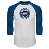 White/Royal Raglan Baseball T Shirt-Genuine Parts