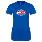 Next Level Ladies SoftStyle Junior Fitted Royal Tee-Utility