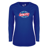 Ladies Syntrel Performance Royal Longsleeve Shirt-Utility