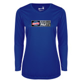 Ladies Syntrel Performance Royal Longsleeve Shirt-Heavy Duty Parts Horizontal