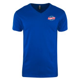 Next Level V Neck Royal T Shirt-Utility