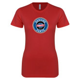 Next Level Ladies SoftStyle Junior Fitted Red Tee-Genuine Parts