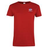 Ladies Red T Shirt-Utility w Tagline