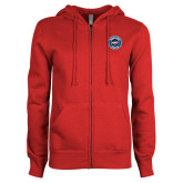 ENZA Ladies Red Fleece Full Zip Hoodie-Genuine Parts