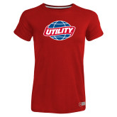 Ladies Russell Red Essential T Shirt-Utility