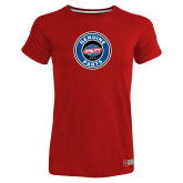 Ladies Russell Red Essential T Shirt-Genuine Parts