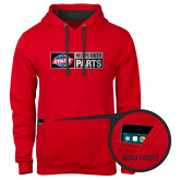 Contemporary Sofspun Red Hoodie-Heavy Duty Parts Horizontal