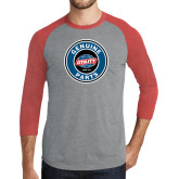 Grey/Red Heather Tri Blend Baseball Raglan-Genuine Parts