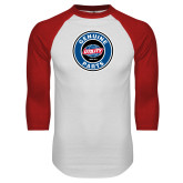 White/Red Raglan Baseball T Shirt-Genuine Parts
