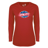 Ladies Syntrel Performance Red Longsleeve Shirt-Utility