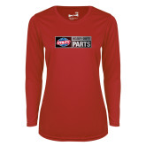 Ladies Syntrel Performance Red Longsleeve Shirt-Heavy Duty Parts Horizontal
