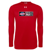 Under Armour Red Long Sleeve Tech Tee-Heavy Duty Parts Horizontal