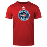Adidas Red Logo T Shirt-Genuine Parts