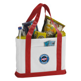 Contender White/Red Canvas Tote-Genuine Parts