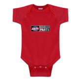 Red Infant Onesie-Heavy Duty Parts Horizontal