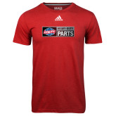 Adidas Climalite Red Ultimate Performance Tee-Heavy Duty Parts Horizontal