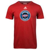 Adidas Climalite Red Ultimate Performance Tee-Genuine Parts