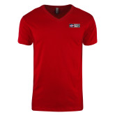 Next Level V Neck Red T Shirt-Heavy Duty Parts Horizontal