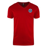 Next Level V Neck Red T Shirt-Genuine Parts