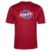 Performance Red Heather Contender Tee-Utility