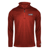 Russell Red Heather 1/4 Zip-Heavy Duty Parts Horizontal
