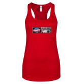 Next Level Ladies Red Ideal Racerback Tank-Heavy Duty Parts Horizontal