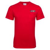 Red T Shirt w/Pocket-Heavy Duty Parts Horizontal