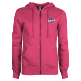 ENZA Ladies Fuchsia Fleece Full Zip Hoodie-Utility