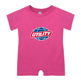 Bubble Gum Pink Infant Romper-Utility