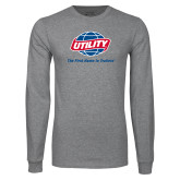 Grey Long Sleeve T Shirt-Utility w Tagline