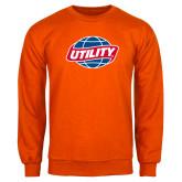 Orange Fleece Crew-Utility