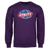 Purple Fleece Crew-Utility
