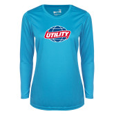 Ladies Syntrel Performance Light Blue Longsleeve Shirt-Utility