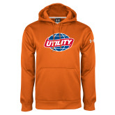 Under Armour Orange Performance Sweats Team Hoodie-Utility