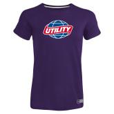 Ladies Russell Purple Essential T Shirt-Utility