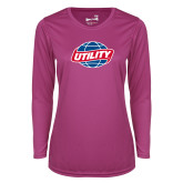 Ladies Syntrel Performance Raspberry Longsleeve Shirt-Utility