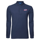 Navy Long Sleeve Polo-Utility