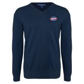 Classic Mens V Neck Navy Sweater-Utility