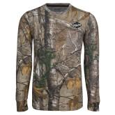 Realtree Camo Long Sleeve T Shirt w/Pocket-Utility
